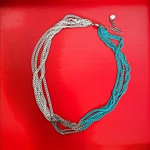 3 color chain necklace (18 inches)